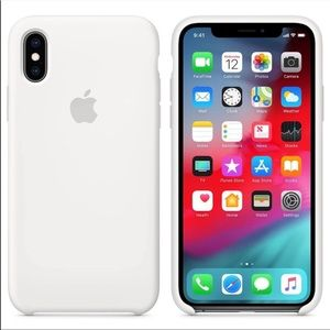 Authentic Apple iPhone XS Max white silicone case.